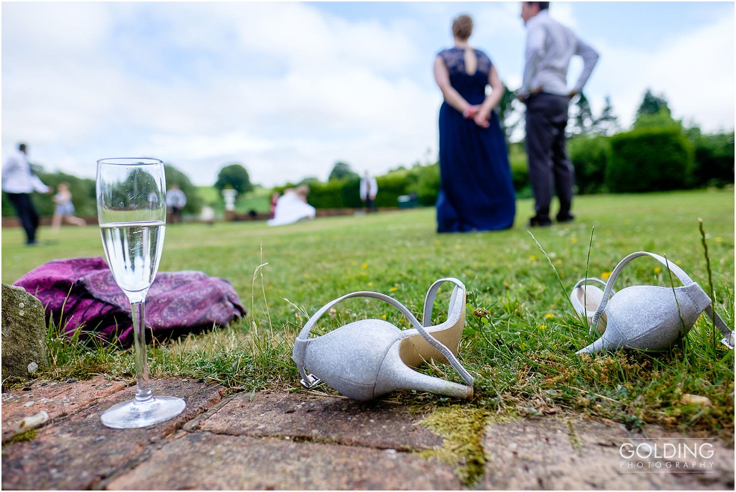 Wedding shoes kicked off for a game of rounders