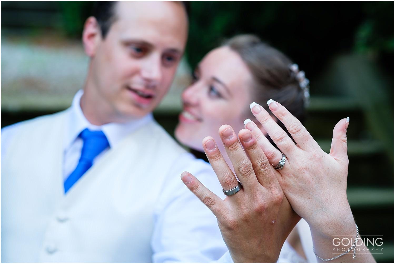 Flashing the wedding rings
